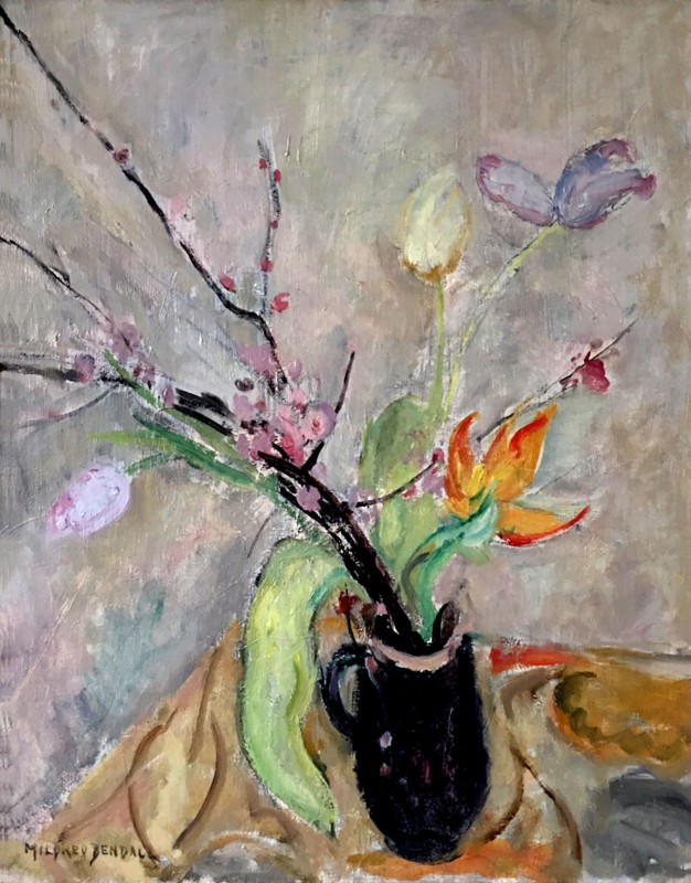 Mildred Bendall (1891-1977)Still Life with Blossom and Tulips, c. 1930s