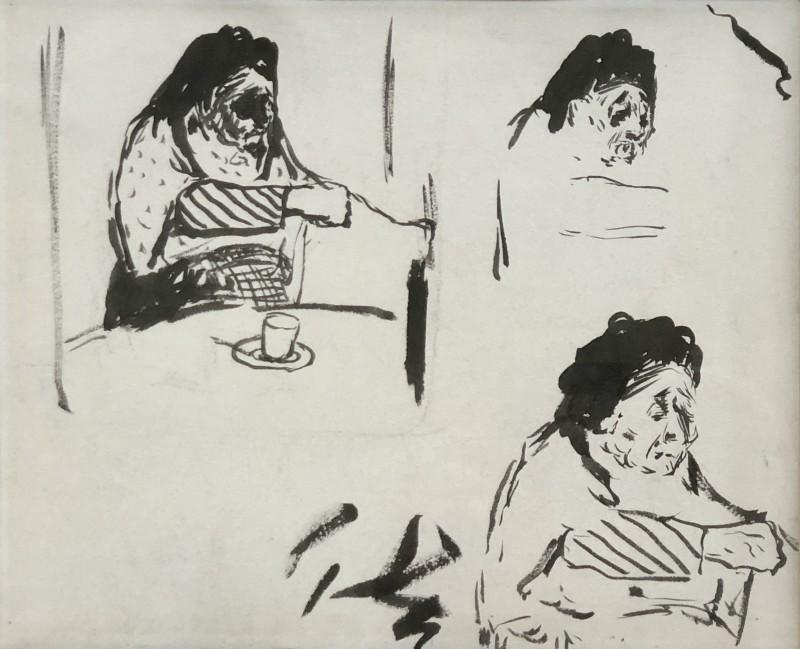 Edouard Vuillard (1868-1940) Études pour 'La Grandmère de l'artiste', c. 1887/91