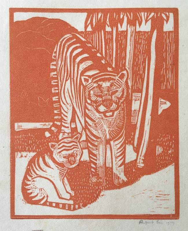 Rupert Lee (1887-1959)Tiger and Cub