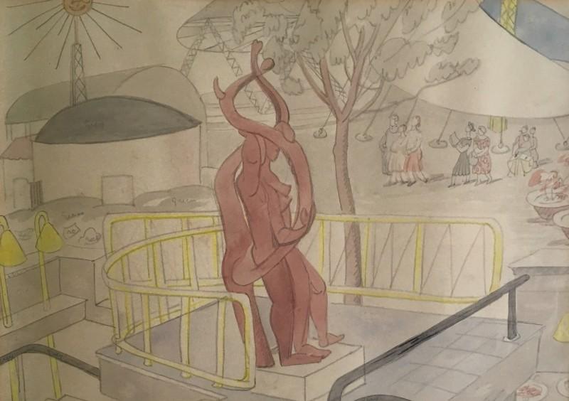 Doris Hatt (1890-1969)Festival of Britain Study II (Mitzi Solomon Cunliffe's Sculpture), 1951