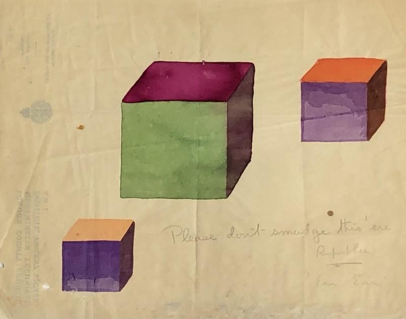 Rupert Lee (1887-1959)Colour cubes, 1920
