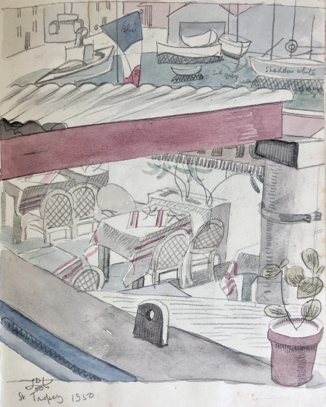Doris Hatt (1890-1969)Harbour Café Terrace, St. Tropez, 1950