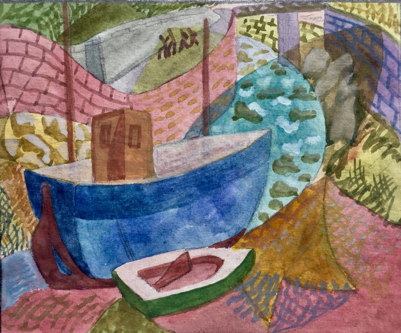Doris Hatt (1890-1969)Boat and Harbour