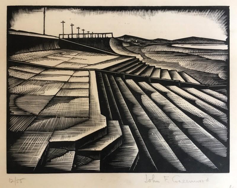 John F Greenwood (1885-1954)Seawall, c. 1925