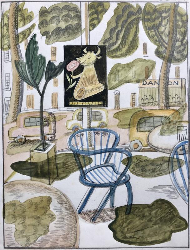 Doris Hatt (1890-1969)Café Terrace, 1961