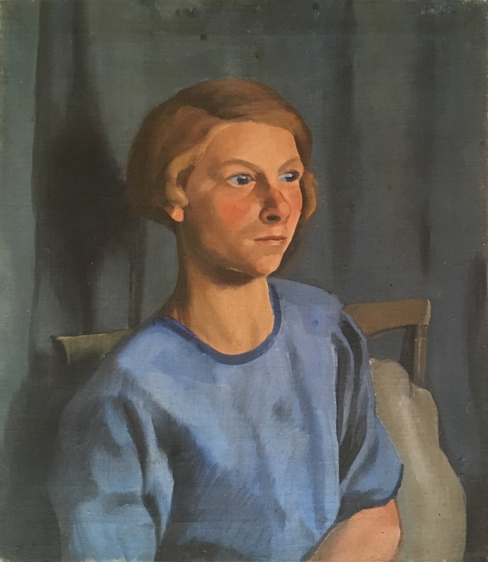 Dorothy Hepworth (1898-1978)Girl in Blue, Cookham, 1927