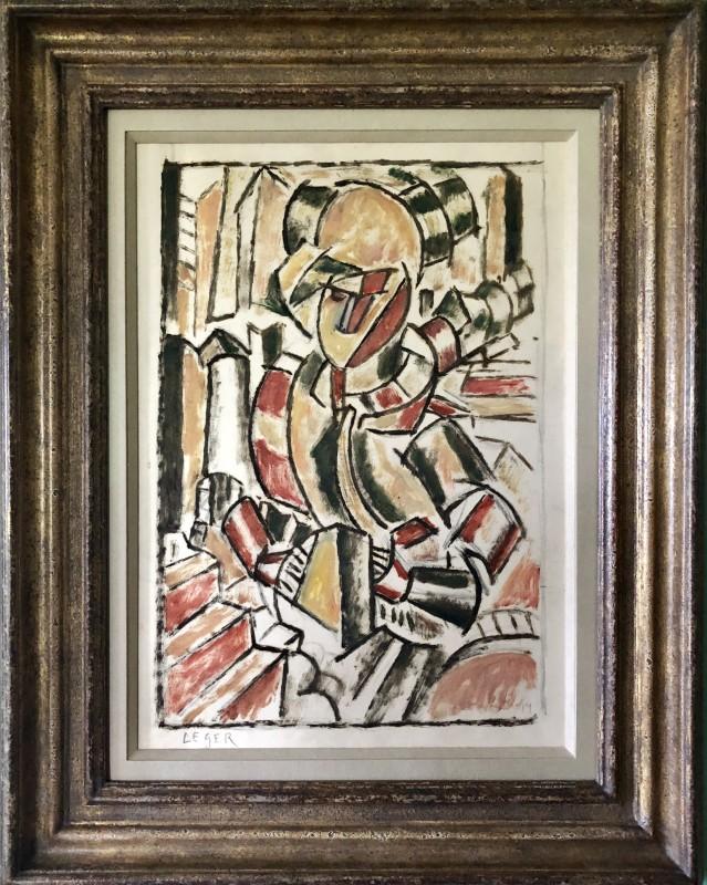 Marie Marevna (1892-1984)La femme en rouge et vert (after Léger), 1914