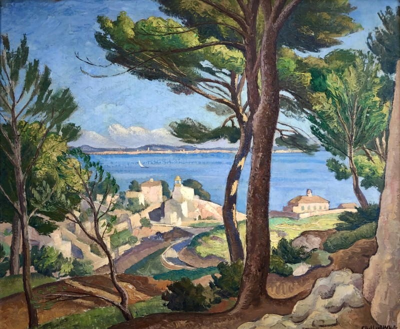Ethelbert White, Fishing Port, Mallorca, c. 1934