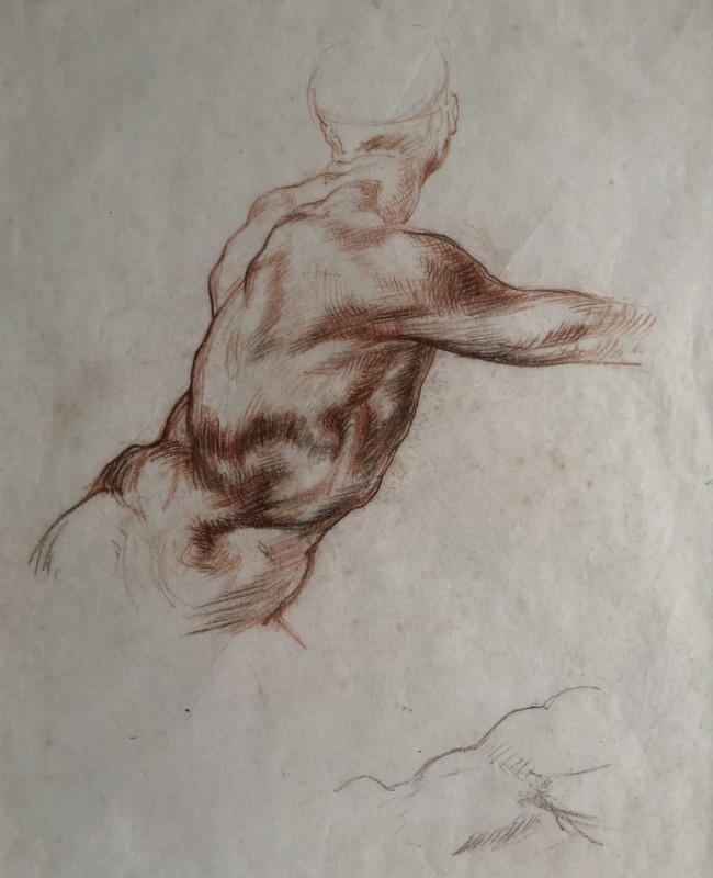 Dorothea Maclagan (1895-1982)Drawing after Michelangelo, c. 1920