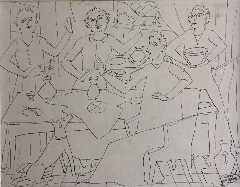 André Derain (1880-1954)Le banquet, c. 1930's