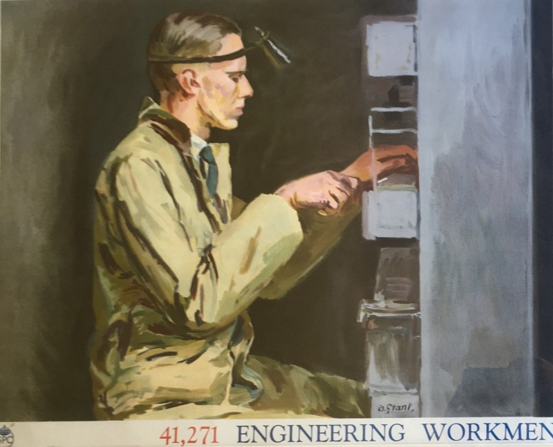 Duncan Grant, Engineering Workmen; Poster II, 1939
