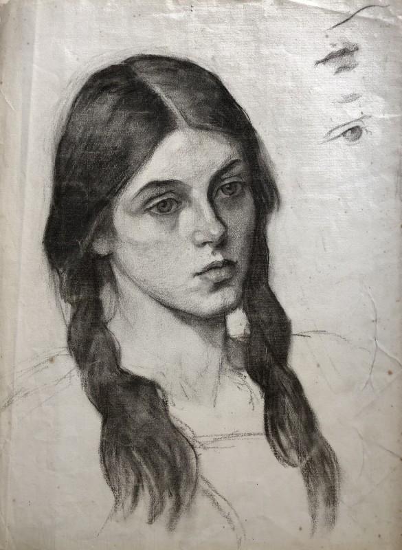 Sir George Clausen (1852-1944)Portrait Study, 1909