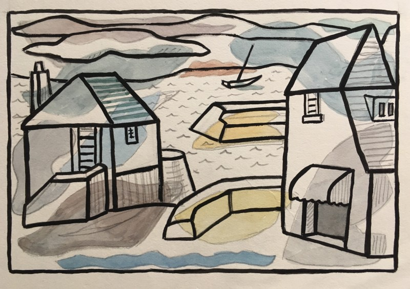 Doris Hatt (1890-1969)Padstow I, Cornwall, c. 1960's