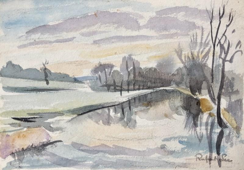 Rupert Lee (1887-1959)Sussex Landscape in Winter, c. 1930s