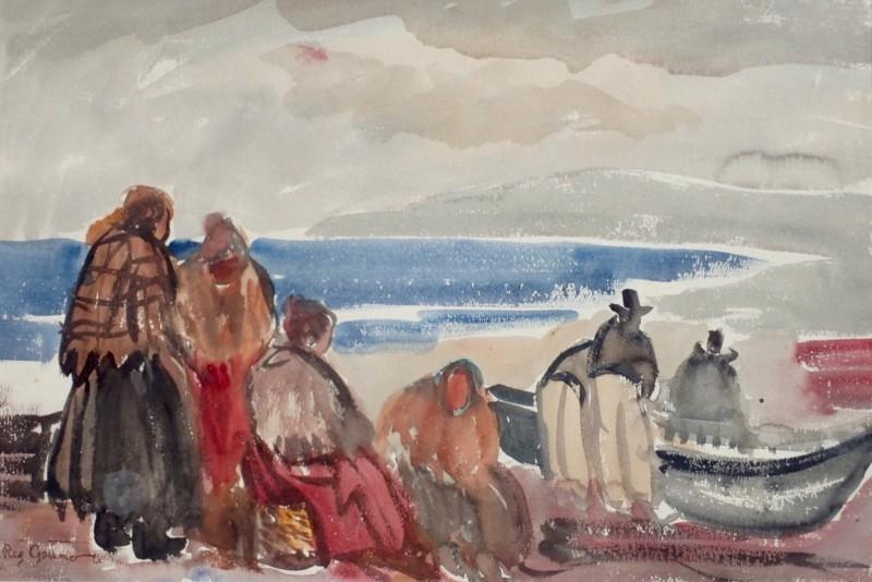 Reg Gammon (1894-1997)Fisher Folk on the Shore, Ireland