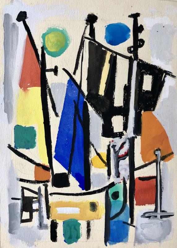 Carlos Carnero (1922-1980)Bateaux à biot, 1956