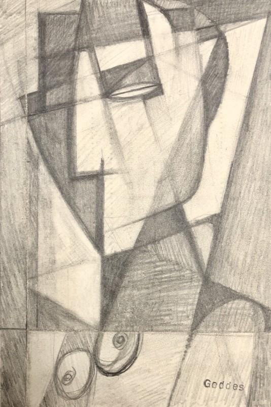 Margaret Geddes (1914-1998)Cubist Bust of a Woman, 1950