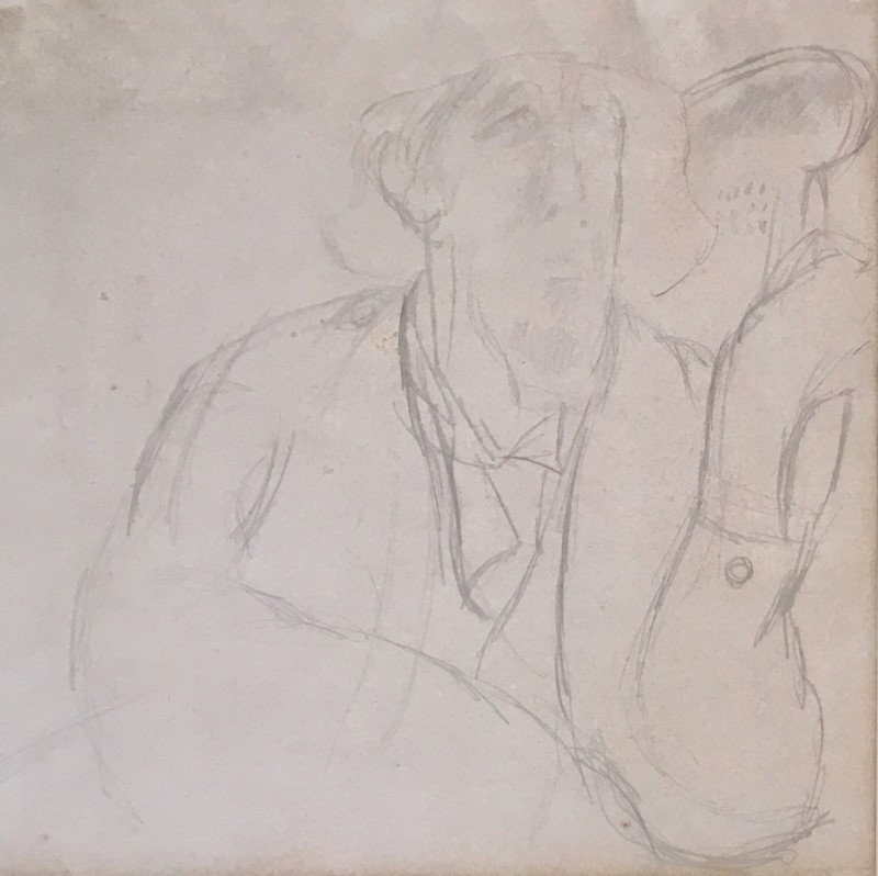 Duncan Grant (1885-1978)Lytton Strachey; Drawing of Lydia Lopokova verso, c. 1922