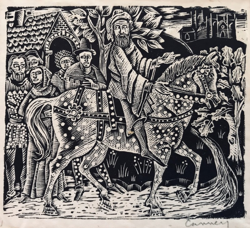 Michael Canney (1923-1999)Design for The Canterbury Tales, c. 1947