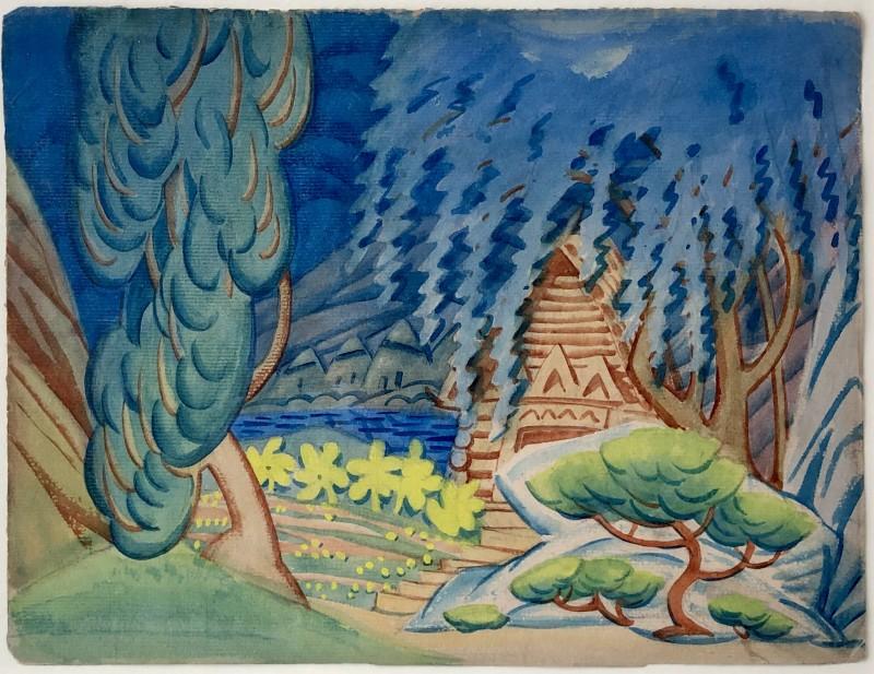 Walpole Champneys (1879-1961)Fantasy Landscape, 1928