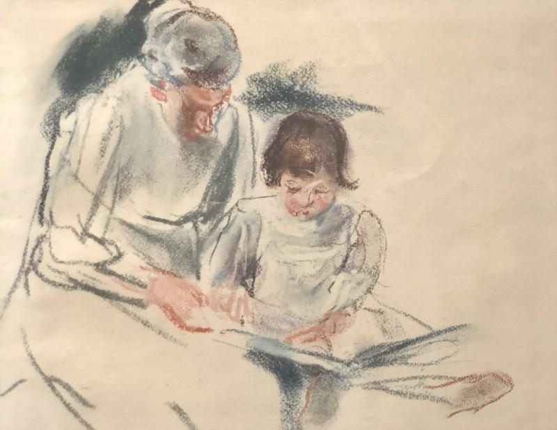 Thérèse Lessore (1884`-1945)Bedtime Story, c. 1915