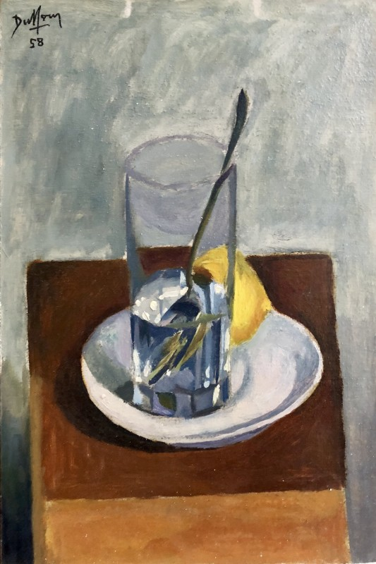 Jacques André Duffour, Still Life with Glass and Dish, 1958