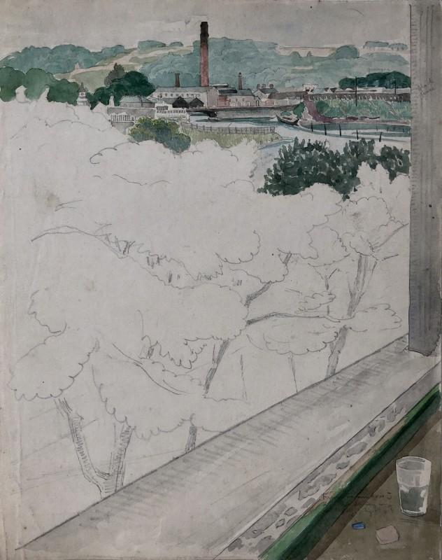 John Nash (1893-1977)Millworks, Landscape, West Yorkshire, 1920