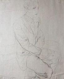 Glyn Morgan (1926-2015)Art Student, Benton Road (Self Portrait), c. 1940s
