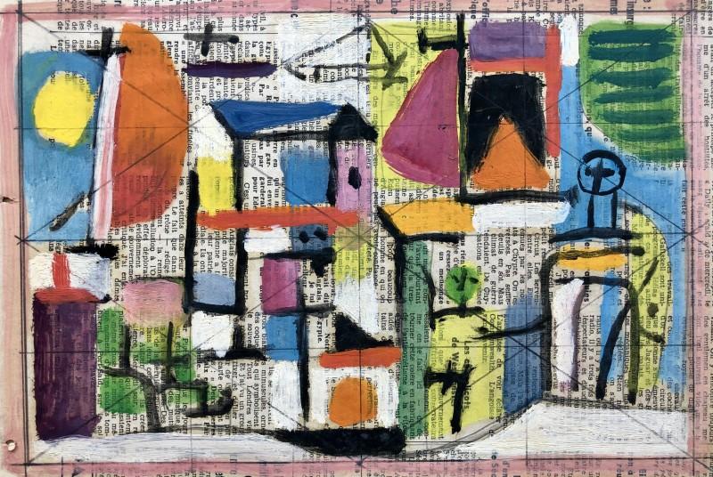 Carlos Carnero (1922-1980)Plage à Biot, 1956