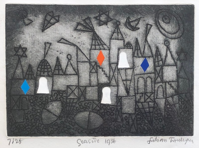 Julian Trevelyan, Seaside, 1972