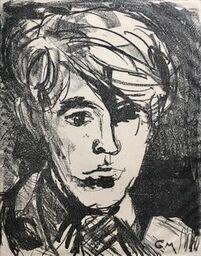 Glyn Morgan (1926-2015)Self Portrait, c. 1940s