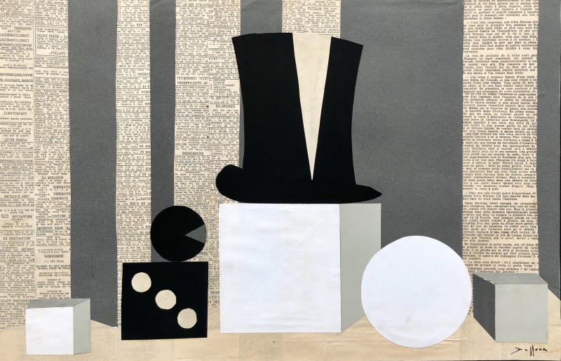 Jacques André Duffour, Still Life with Top Hat and Dice, c. 1955