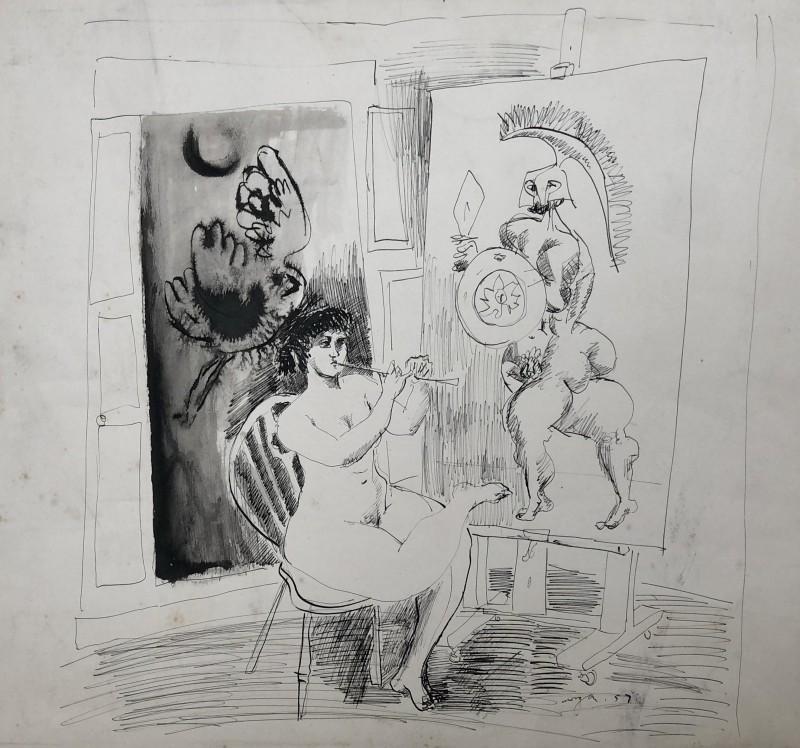 Glyn Morgan (1926-2015)Artist's Model, 1957