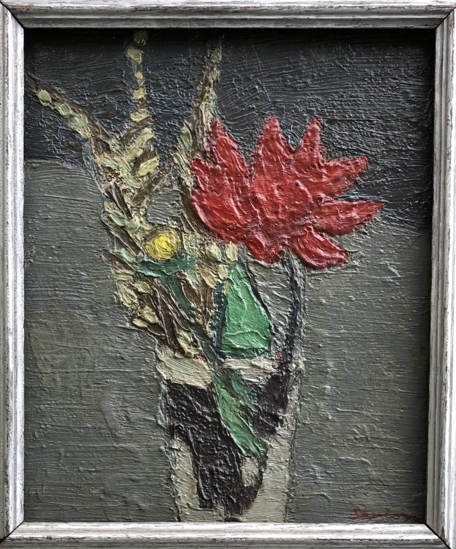 Bryan Senior, Flower Piece with Red Dahlia, 1960