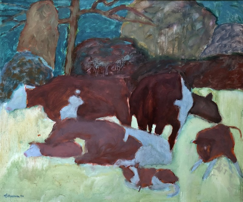 Hans Schwarz (1922-2003)Cows, West Somerset
