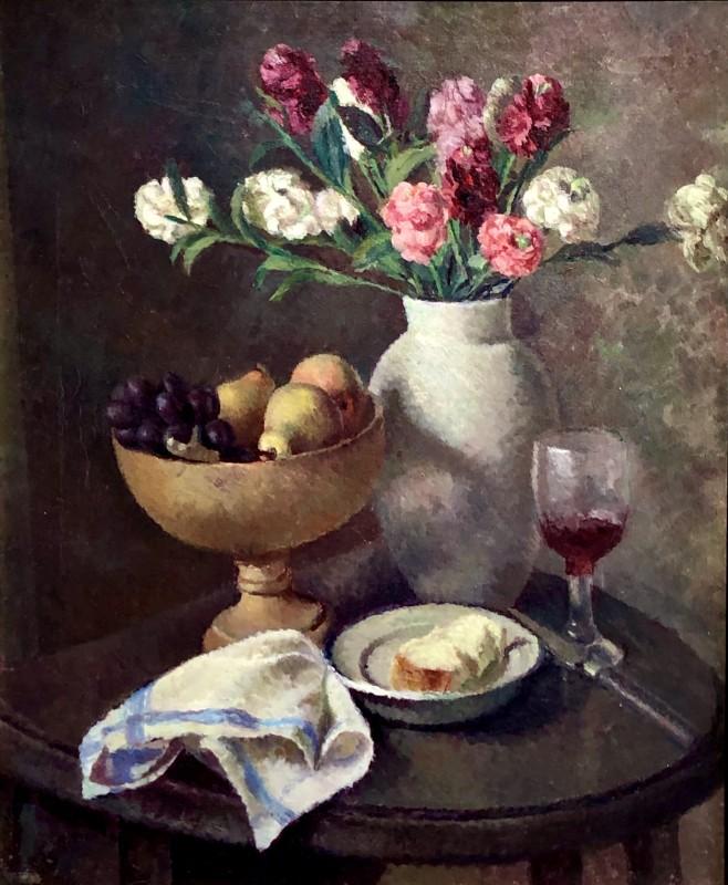 Dorothy Hepworth, Still Life of Pinks in Roger Fry's White Vase, c. 1935
