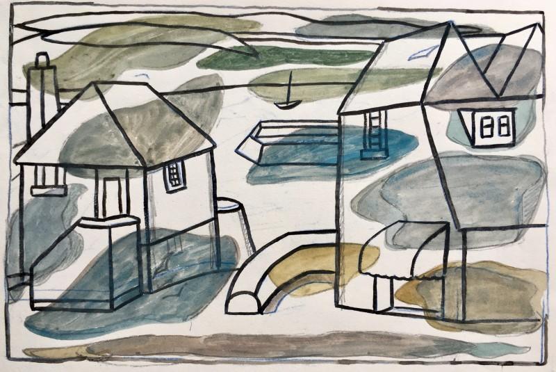 Doris Hatt (1890-1969)Padstow II, Cornwall, c. 1960's