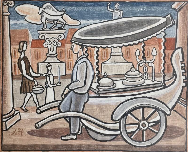 Doris Hatt (1890-1969)Ice Cream Seller (Gelati) Vicenza, 1959