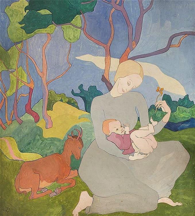 Kasimir Zieleniewski (1888-1931)Maternité, c. 1928