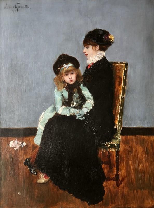 Norbert Goeneutte (1854-1894)L'elegance: Mère et fille', 1879