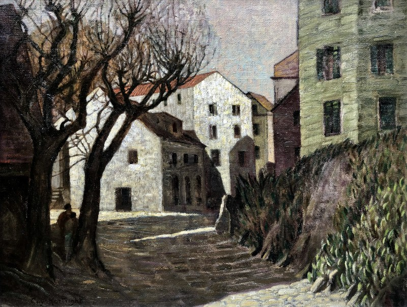 Guy Kortright (1876-1948)Spanish Town, c. 1930