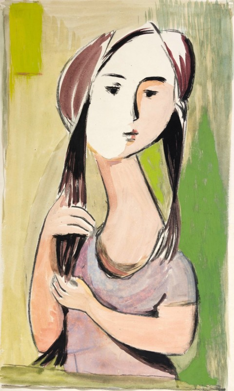 Kenneth Lauder (1916-2004)Woman with Pig Tails, 1951