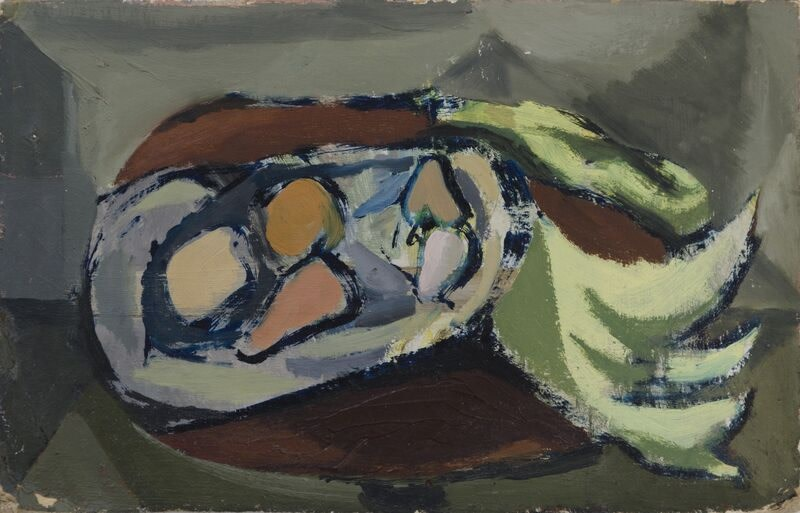 Kenneth Lauder (1916-2004)Pears in a Dish, 1949
