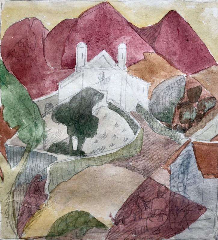 Doris Hatt (1890-1969)Hillside, Corsica, 1953