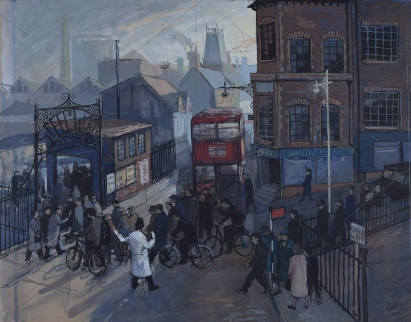 Hilary Miller (b. 1919)Steelworks, London, c, 1950