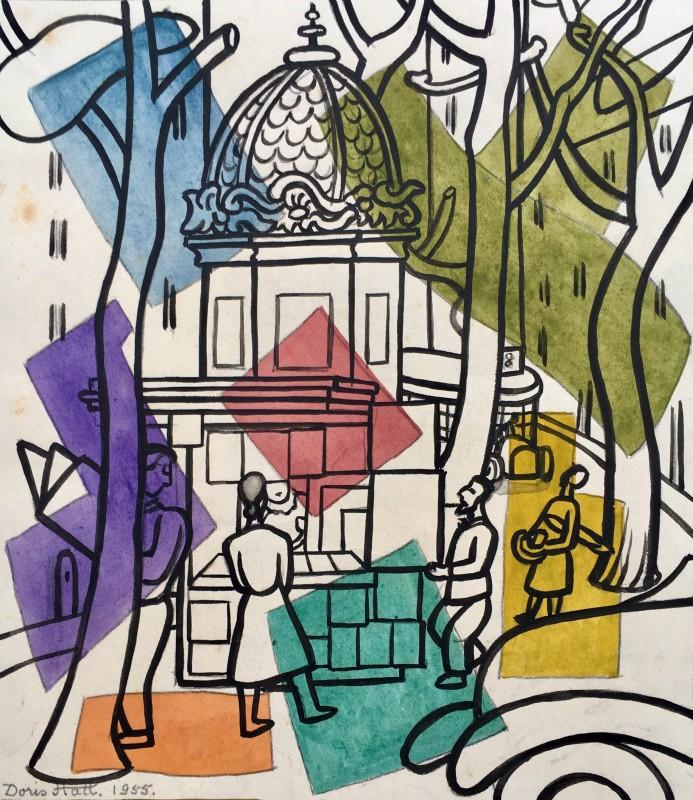 Doris Hatt (1890-1969)Parisian Street, 1955