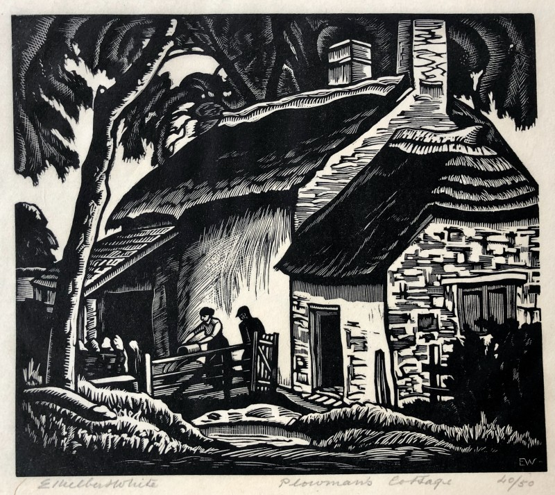 Ethelbert White (1891-1972)The Ploughman's Cottage, 1924