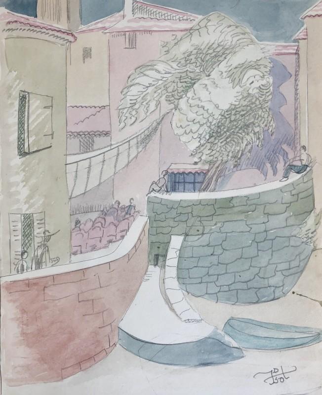 Doris Hatt (1890-1969)Acacia Tree, St. Tropez, 1950