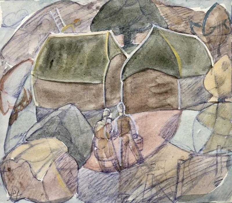Doris Hatt (1890-1969)Haystacks, c. 1948