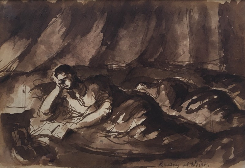 Keith Vaughan, Reading at Night, c. 1942